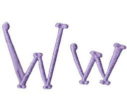Quirky Girl Alphabet W