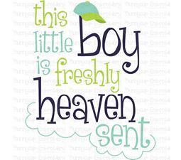 Baby Boy Sentiments 15 SVG