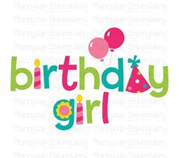 Birthday Girl 1  SVG