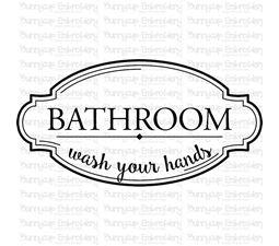 Bathroom Wash Your Hands SVG