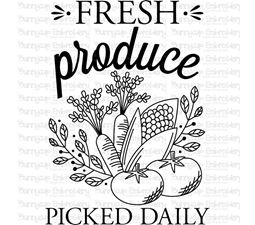 Fresh Produce Picked Daily SVG