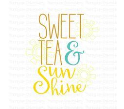 Sweet Tea And Sunshine SVG