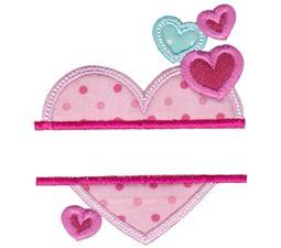 Split Valentines Applique 1
