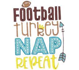 Football Turkey Nap Repeat