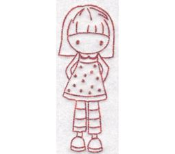 Tiny Teens Redwork 13