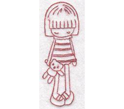 Tiny Teens Redwork 9