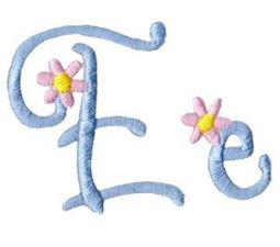 A Daisy Day Alphabet E