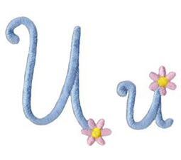 A Daisy Day Alphabet U