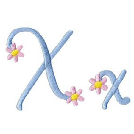 A Daisy Day Alphabet X