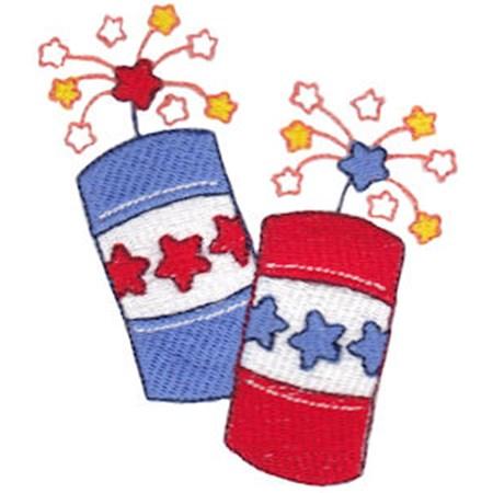 Pair of Patriotic Firecrackers
