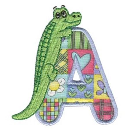 Animal Alphabet Applique A