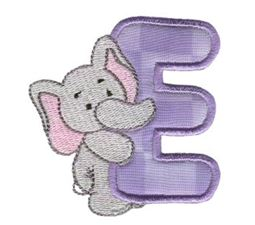Animal Alphabet Applique e