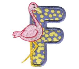 Animal Alphabet Applique f
