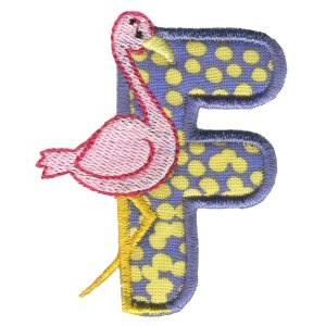 Animal Alphabet Applique f