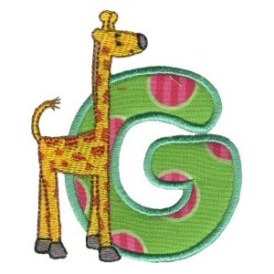 Animal Alphabet Applique g