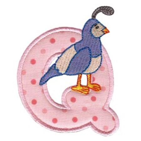 Animal Alphabet Applique q