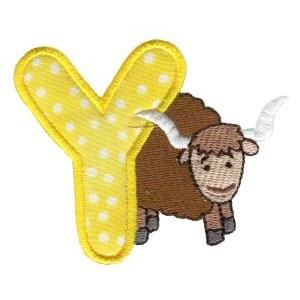 Animal Alphabet Applique y
