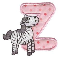 Animal Alphabet Applique z