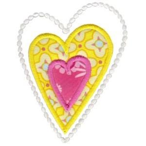 Applique Hearts 3