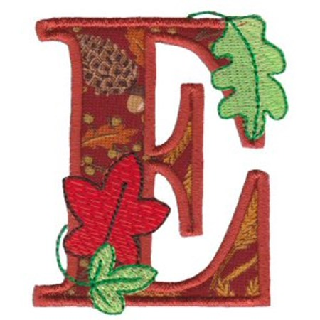 Autumn Alphabet E