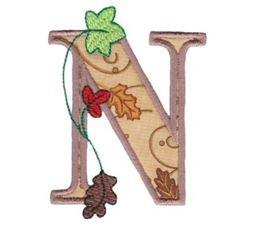 Autumn Alphabet N