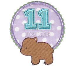 Baby Months Applique 11