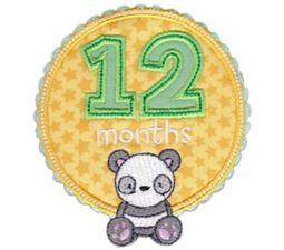 Baby Months Applique 12