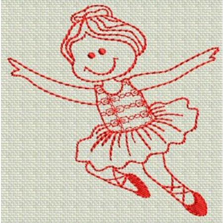 Ballet Redwork 4