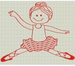 Ballet Redwork 6