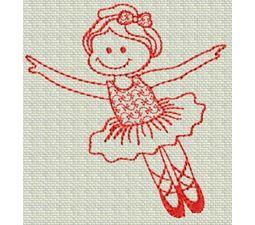 Ballet Redwork 8