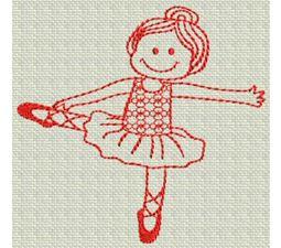 Ballet Redwork 9
