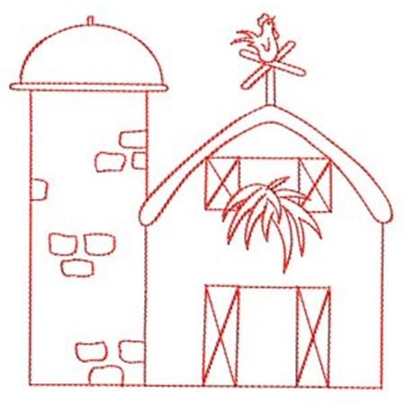 Barnyard Redwork 1