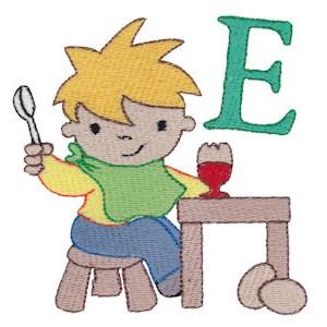 Boys Alphabet E