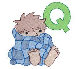 Boys Alphabet Q