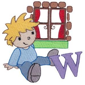 Boys Alphabet W