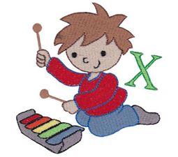 Boys Alphabet X