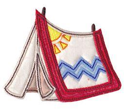 Camping Applique 19