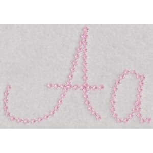 Candlewicking Alphabet A