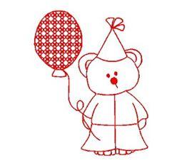 Carnival Bears Redwork 3