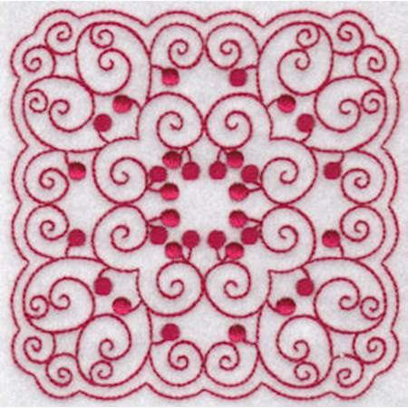 Cherries Quilt Blocks Redwork 11