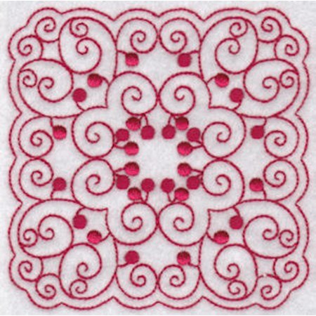 Cherries Quilt Blocks Redwork 11