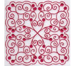 Cherries Quilt Blocks Redwork 6