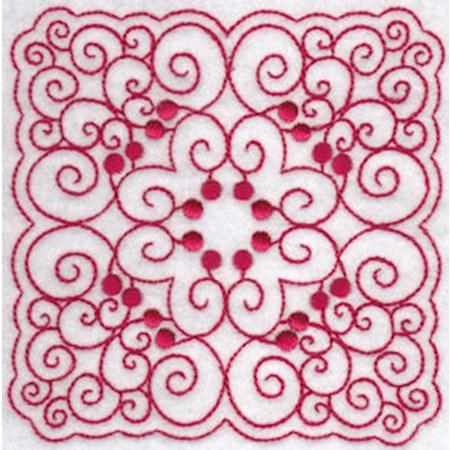 Cherries Quilt Blocks Redwork 7