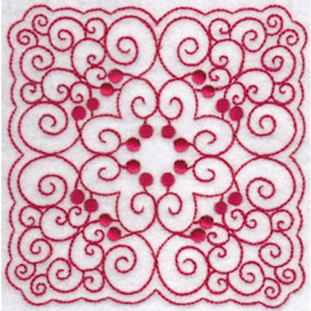 Cherries Quilt Blocks Redwork 7