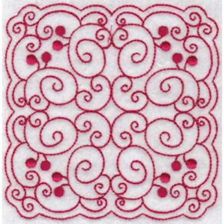 Cherries Quilt Blocks Redwork 9