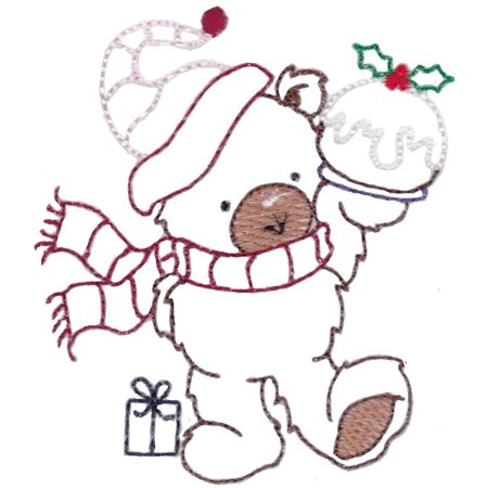 Christmas Bears Vintage Stitch 6