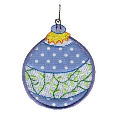 Christmas Ornaments Applique 8