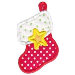 Christmas Stockings Applique 10