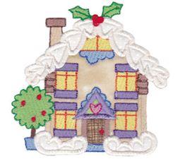 Christmas Village Applique 1