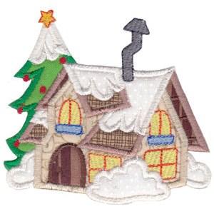 Christmas Village Applique 8